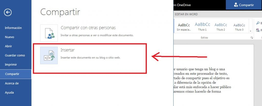Insertar documentos de word en blogs