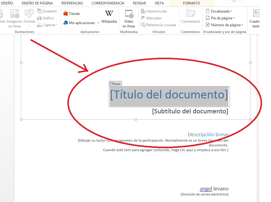 Añadir portada a documentos de Word