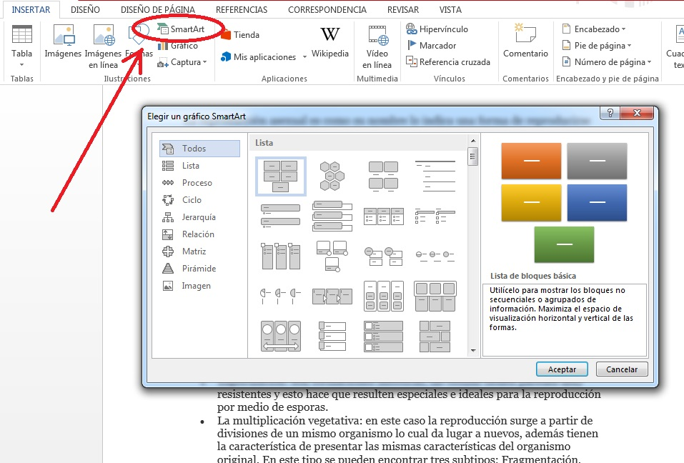 Insertar gráficos y diagramas en documentos de MS Word