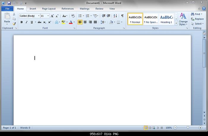 Características Microsoft Word 2010