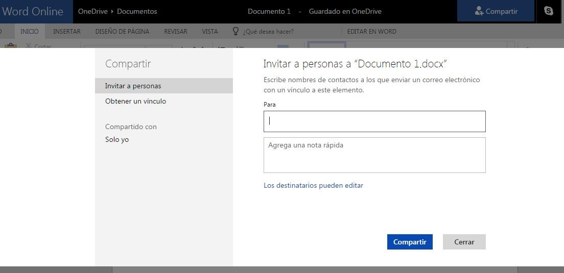 Crear documentos en Word Online y descargar en formato PDF