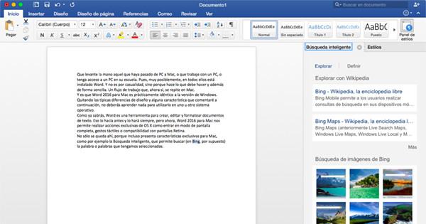 Novedades en Microsoft Word 2016