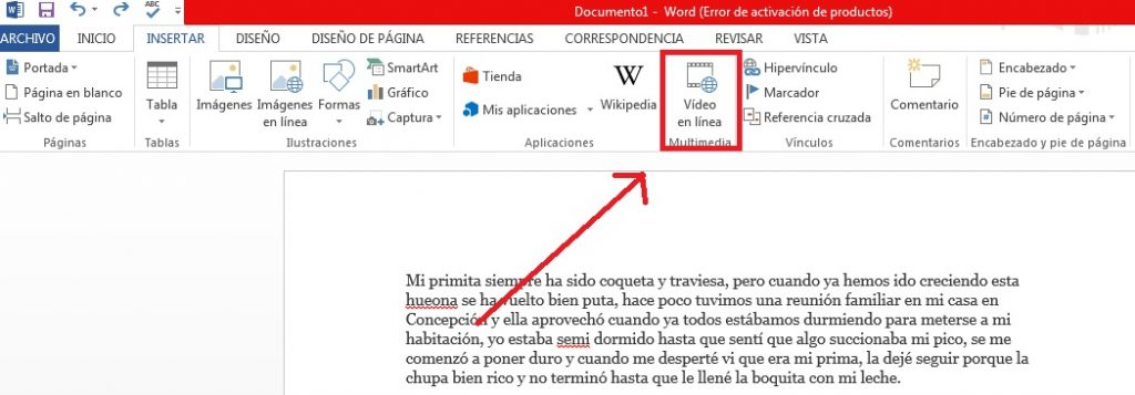 Cómo insertar videos Online en documentos de Microsoft Word