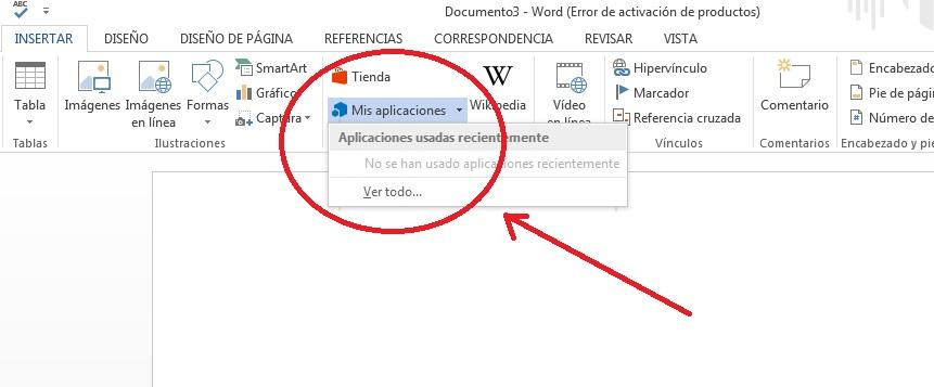 Añadir complemento para guardar texto en Word
