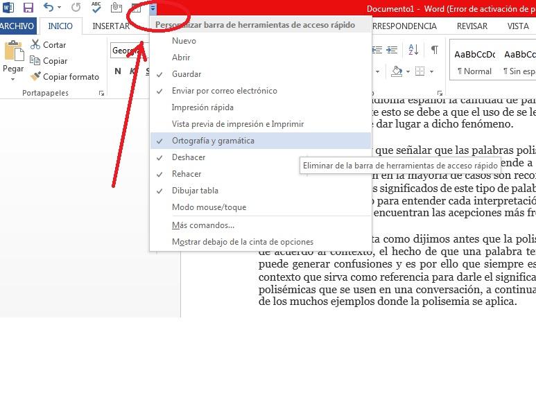 Agregar botones de acceso directo en Microsoft Word