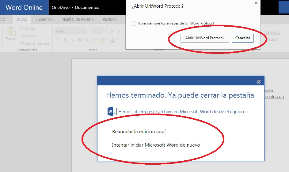 Editar documentos de Word Online en la versión de escritorio