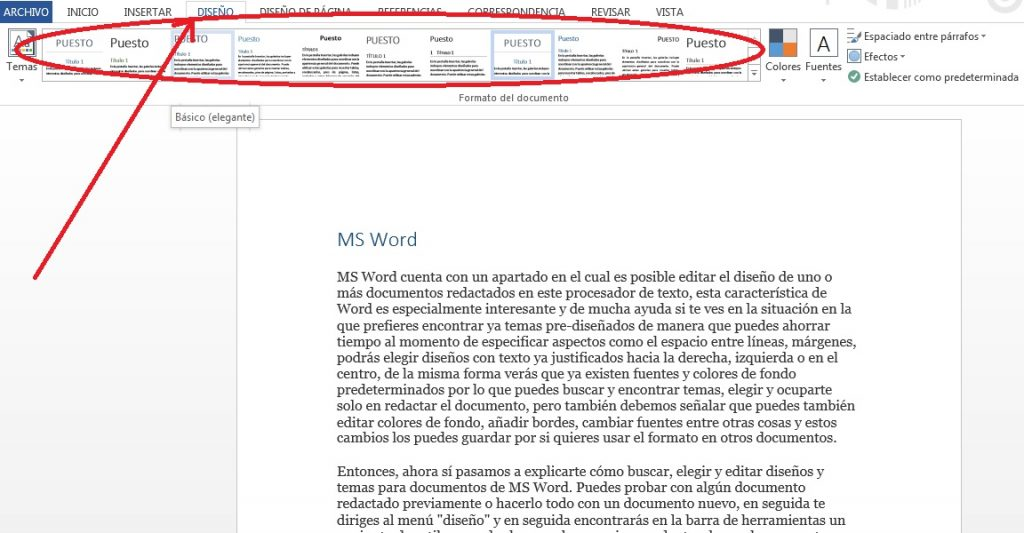 Cambiar estilos de documentos en MS Word