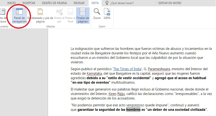 Crear documentos de Word desde OneDrive