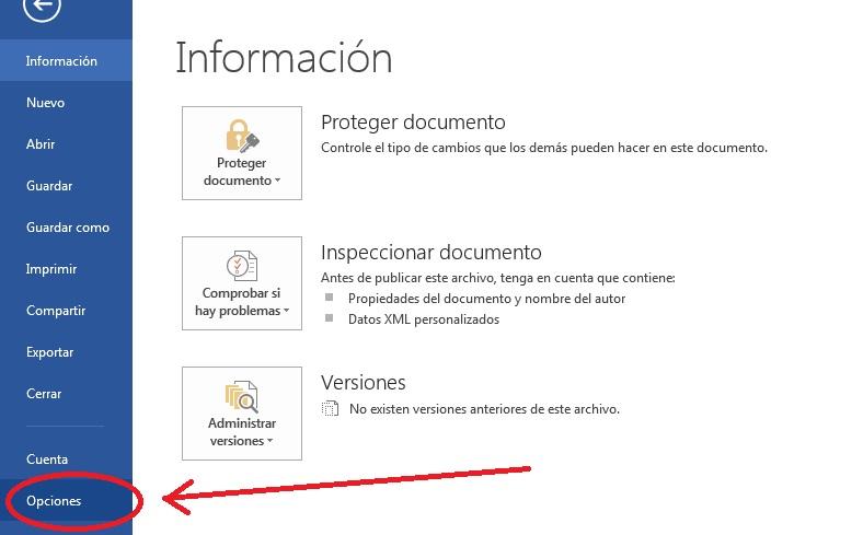 Configurar opciones de edición en Word