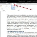 funciones en modo Vista de lectura en Word Online