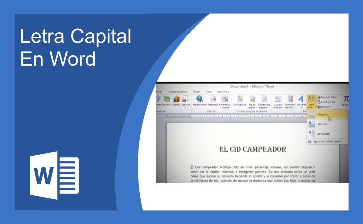 Letra Capital En Word