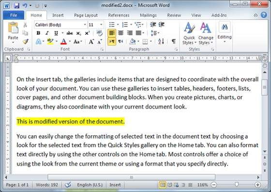 Modified Document